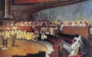 Cicero Denounces Catiline by Maccari